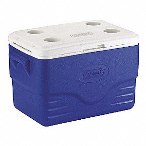 Plastic 36.0 qt. Personal Cooler, Ice Retention Up to 3 days, Blue