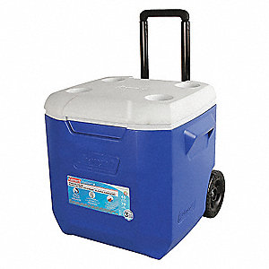 Plastic 45.0 qt. Chest Cooler, Ice Retention Up to 3 days, Blue