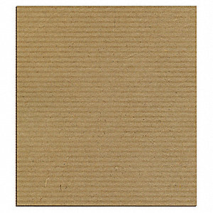 "Kraft Brown Corrugated Sheet, 48"" Length, 36"" Width"