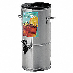 5 gal. Tea Dispenser, Stainless Steel