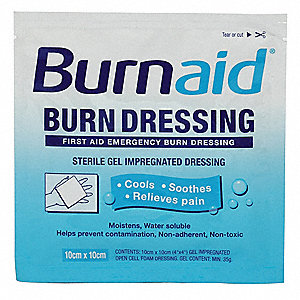 Burn Dressing,Sterile,White,PK10