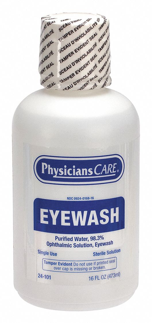 16 oz Personal Eye Wash Bottle, For Use With Mfr. No. 24-000, 24-102, 24-500