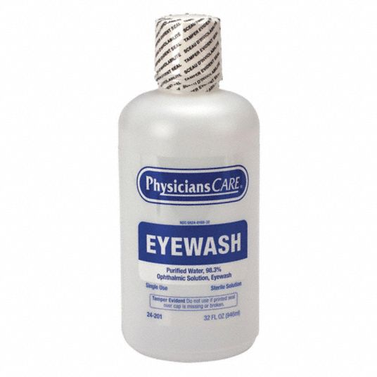 32 oz Personal Eye Wash Bottle, For Use With Mfr. No. 24-202, 24-300