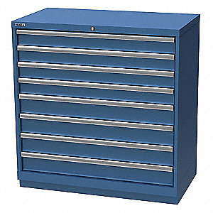 "Stationary Counter Height Modular Drawer Cabinet, 8 Drawers, 40-1/4""W x 22-1/2""D x 41-3/4""H"