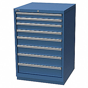 "Stationary Counter Height Modular Drawer Cabinet, 8 Drawers, 28-1/4""W x 28-1/2""D x 41-3/4""H"
