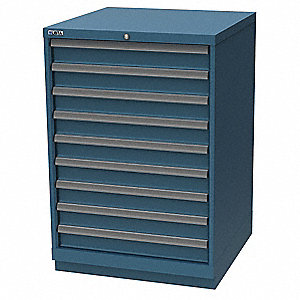 "Stationary Counter Height Modular Drawer Cabinet, 9 Drawers, 28-1/4""W x 28-1/2""D x 41-3/4""H"
