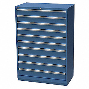 "Stationary Full Height Modular Drawer Cabinet, 10 Drawers, 40-1/4""W x 22-1/2""D x 59-1/2""H"