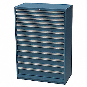 "Stationary Full Height Modular Drawer Cabinet, 13 Drawers, 40-1/4""W x 22-1/2""D x 59-1/2""H"