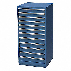 "Stationary Full Height Modular Drawer Cabinet, 12 Drawers, 28-1/4""W x 28-1/2""D x 59-1/2""H"