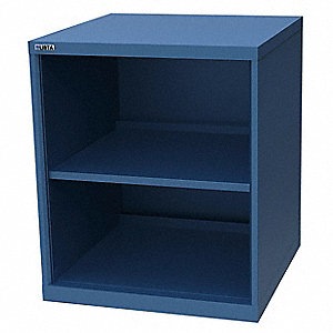 "Open Front Shelf Cabinet, 28-1/4"" Overall Width, 33-1/2"" Overall Height, Number of Shelves: 2"