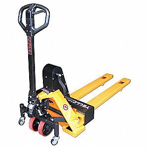 Pallet Jack,Adjustable,Load Cap 2200 Lb