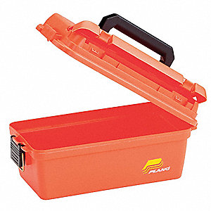 Weather Resistant Tool Box,8 In. W,Ornge