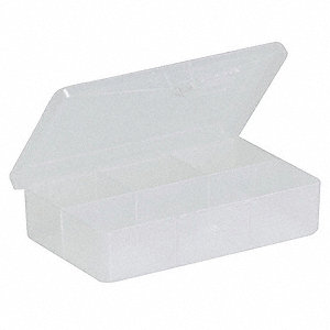 "Compartment Box, Clear, 1""H x 2-7/8""L x 4-5/8""W, 1EA"