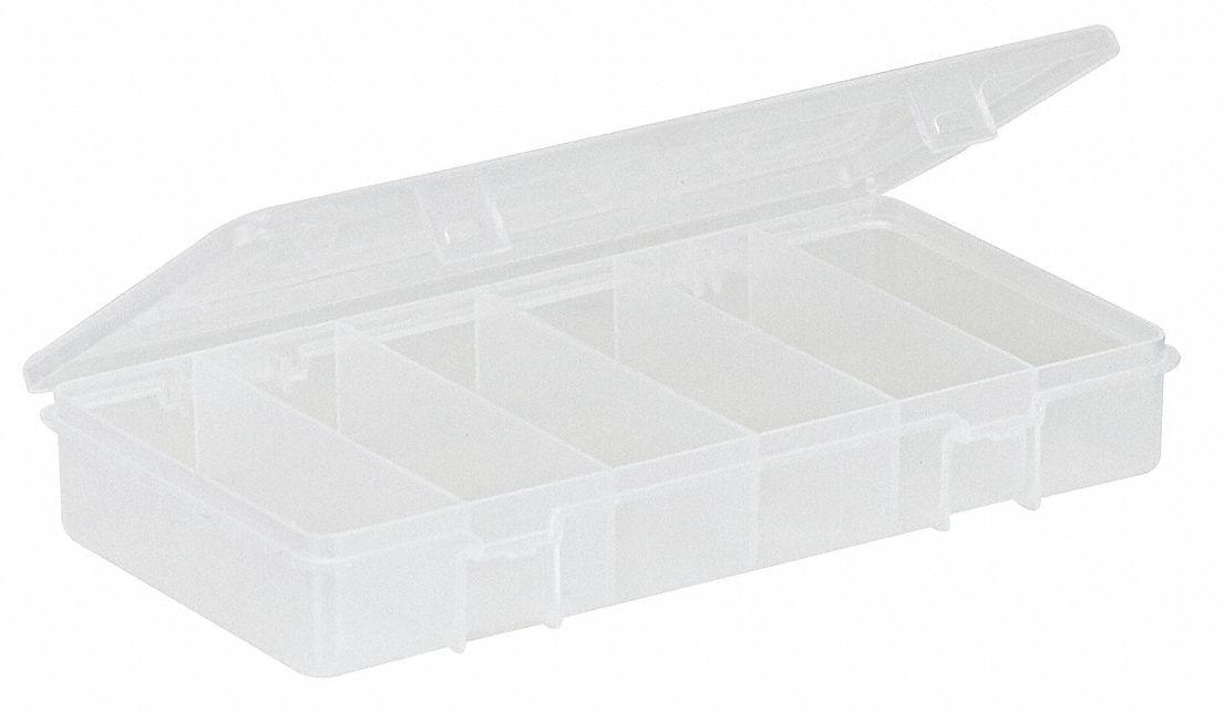 PLANO MOLDING Compartment Box Clear 1 38H x 4 14L x 8 14W