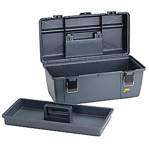 Portable Tool Box,20-1/4 In. W,Gray