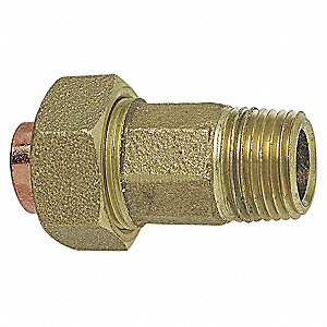 "Cast Bronze Fitting Union, C x MNPT Connection Type, 3/8"" Tube Size"