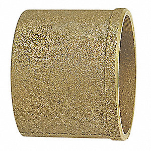 "Cast Bronze DWV No Hub Soil Pipe Adapter, C x No Hub Connection Type, 2"" Tube Size"
