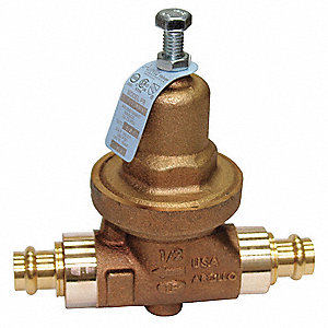 "Water Pressure Reducing Valve, Standard Valve Type, Lead Free Bronze, 1"" Pipe Size"