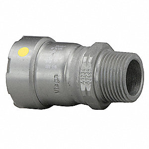 "Carbon Steel Male Adapter, Press x MPT Connection Type, 1"" Tube Size"