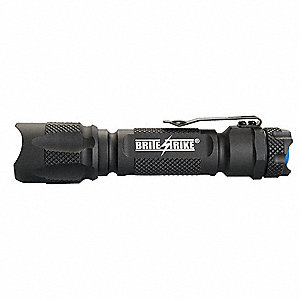 Tactical LED Handheld Flashlight, Aluminum, Maximum Lumens Output: 340, Black
