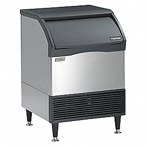 115V Medium Undercounter Ice Machine, Stainless Steel, 175 lb.