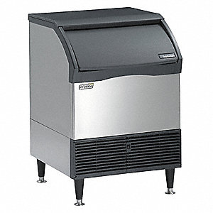 115V Small Undercounter Ice Machine, Stainless Steel, 240 lb.