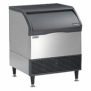 115V Small Undercounter Ice Machine, Stainless Steel, 250 lb.