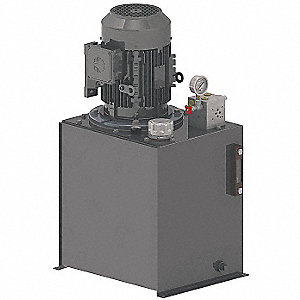 Hydraulic Power Unit,  5 HP,  208-230/460VAC,  Number of Phases 3,  1550 psi Max. Pressure,  4.4 gpm