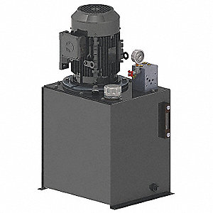 Hydraulic Power Unit,  3 hp HP,  208-230/460V AC,  Number of Phases 3,  600 psi Max. Pressure