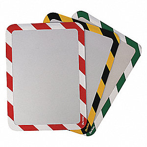 Sign Holder,Red/White,Magnetic,PK2