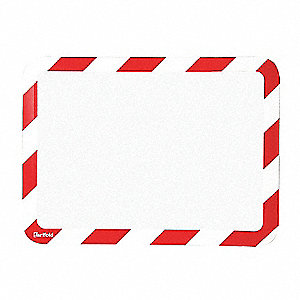 Sign Holder, Red/White, 1/8 in. H, PK2