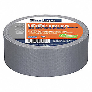 Utility Duct Tape, 48mm X 55m, 7.00 mil Thick, Metallic Cloth, 24 PK