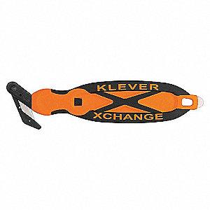 KNIFE 6-3/4IN BLK/ORANGE 1-SIDED