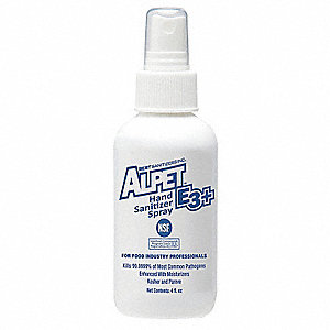 4 oz. Hand Sanitizer Spray Bottle, Alpet E3+, 48 PK