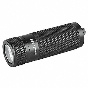 Industrial LED Handheld Flashlight, Aluminum, Maximum Lumens Output: 170, Black