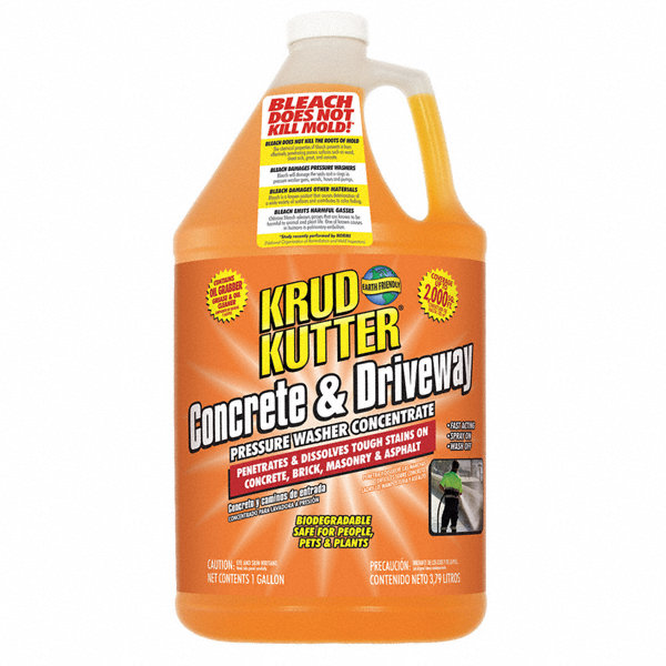 Krud kutter concrete and driveway cleaner 1 gal size for Cement cleaning solution