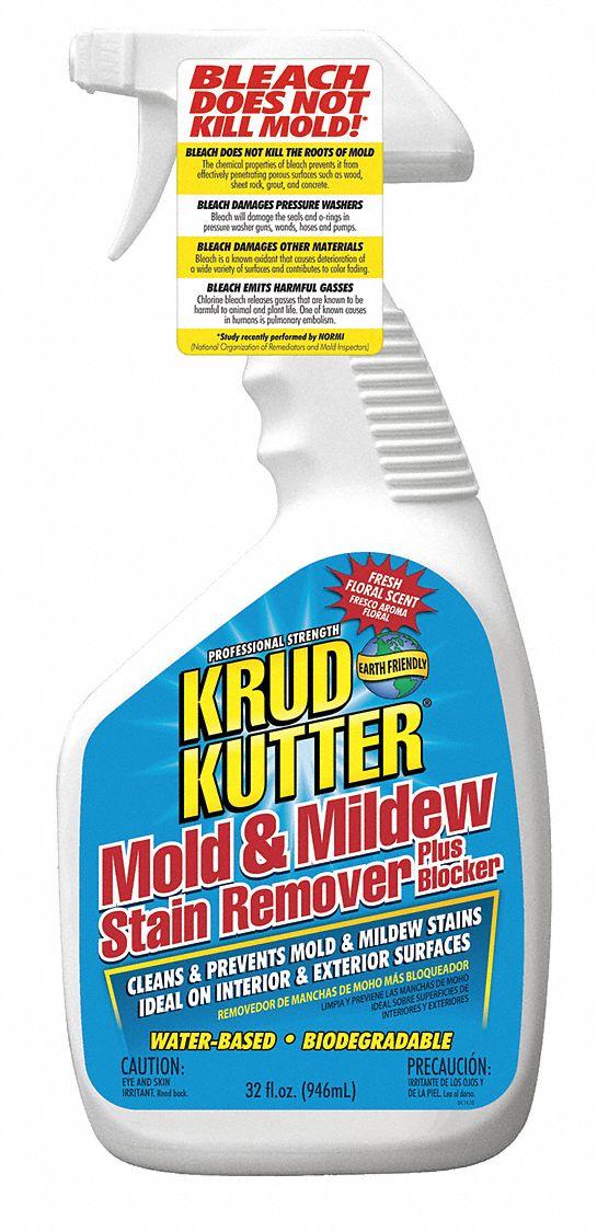 Krud Kutter Mildew And Mold Remover 32 Oz Trigger Spray Bottle Unscented Liquid 1 Ea 36p498 Ms324 Grainger