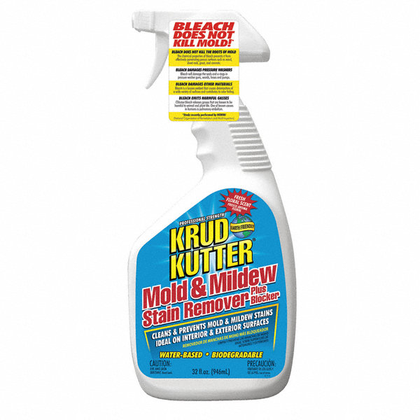 KRUD KUTTER Mold and Mildew Stain Remover, 32 oz. Spray or Brush, 1 EA ...