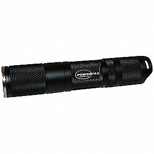 LED Tactical Mini Flashlight, Aluminum, Maximum Lumens Output: 135, Black, 4.00""