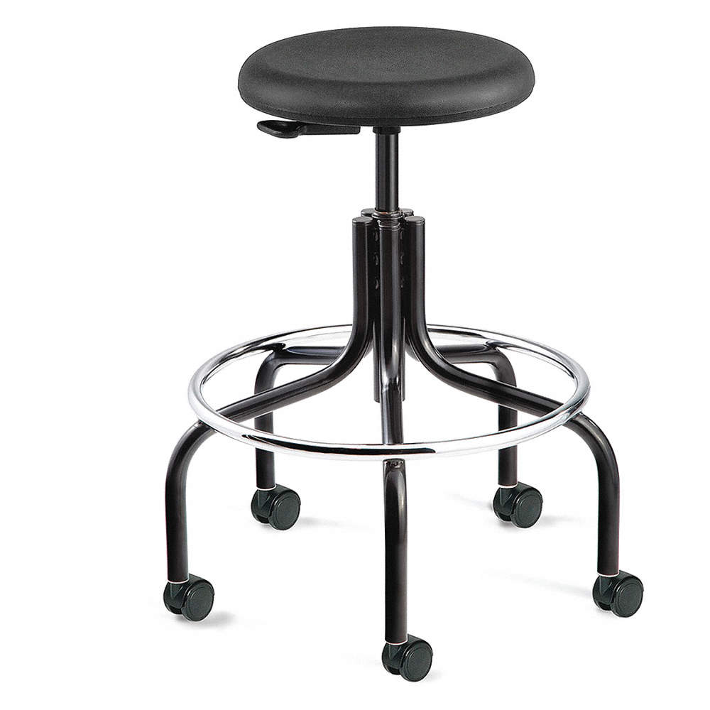 Groovy Round Stool With 19 To 24 Seat Height Range And 300 Lb Weight Capacity Black Inzonedesignstudio Interior Chair Design Inzonedesignstudiocom