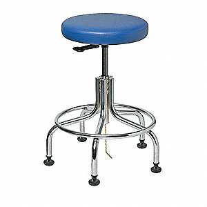 ESD Vinyl ESD Backless Pneumatic Stool with 300 lb. Weight Capacity, Royal Blue