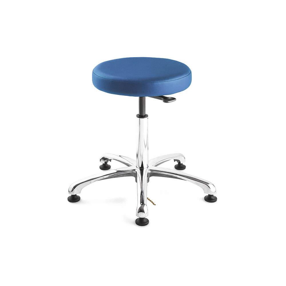 Astounding Esd Vinyl Esd Backless Pneumatic Stool With 300 Lb Weight Capacity Royal Blue Inzonedesignstudio Interior Chair Design Inzonedesignstudiocom