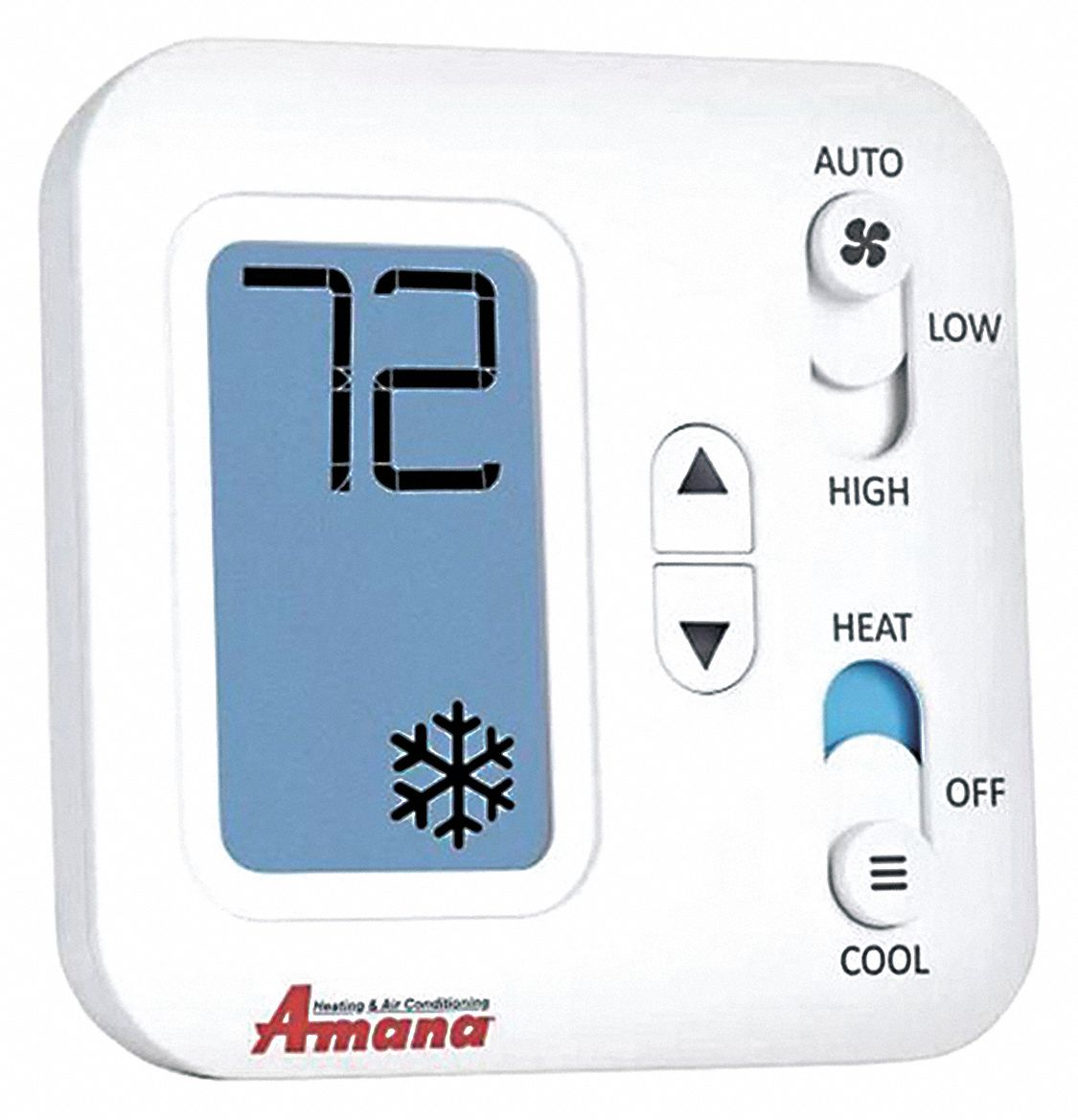 Non-Programmable Thermostat, 2-Stage Heat / 1-Stage Cool or Heat Pump