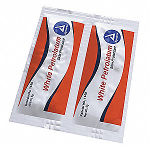 White Petrolatum, Gel, Box, Wrapped Packets, 0.180 oz.