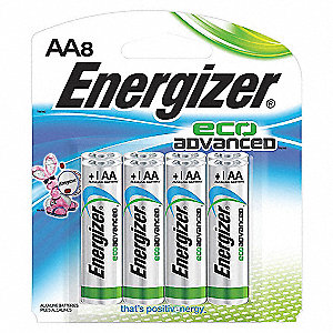 BATTERY ECO ADVANCED AA 8/PK
