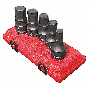 IMPACT EXTENSION HEX SET 3/4IN DR