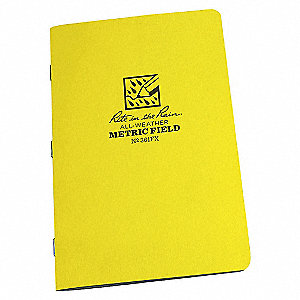 STITCHED NOTEBOOK, MET. FIELD, 3PK
