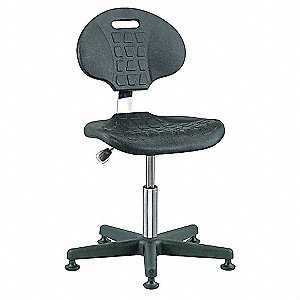 "Polyurethane Cleanroom Pneumatic Task Chair with 15"" to 20"" Seat Height Range and 300 lb. Weight Cap"