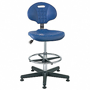 "Polyurethane Cleanroom Pneumatic Task Chair with 19"" to 26-1/2"" Seat Height Range and 300 lb. Weight"