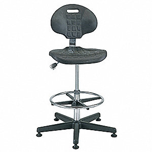 "Polyurethane Cleanroom Pneumatic Task Chair with 21"" to 31"" Seat Height Range and 300 lb. Weight Cap"